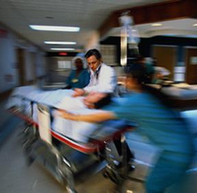 woman in emergency room