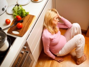 pregnant woman angry