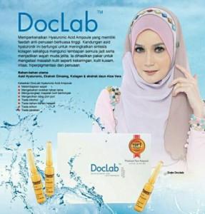 Produk DOCLAB dalam bentuk ampule, untuk sapuan kulit, mengandungi yaluronik acid, yang mesta kulit termasuk kulit yang berminyak dan sensitif. Boleh digunakan pada wanita hamil.